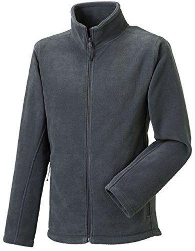 Russell Collection Fleece-Jacke R-870M-0, Farbe:Convoy Grey;Größe:L L,Convoy Grey