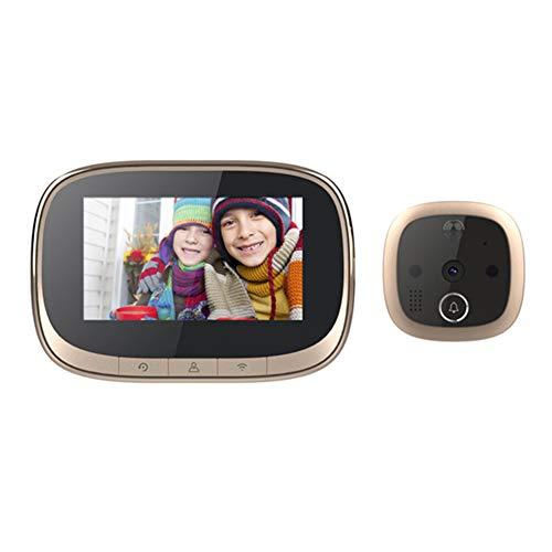 W2 Cámara digital Timbre 170 ángulo visión nocturna infrarroja mirilla Visor hogar Smart Wifi ojo de gato 4.3 pulgadas electrónico inalámbrico video teléfono móvil intercomunicador remoto