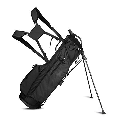 Bolsa de Golf Pro Stand, Bolsa de Golf, Golf Club Stand Carry Trolley Bag, Golf Club Stand Bag, para hasta 14 Raquetas, Men's, 125 × 30cm Black
