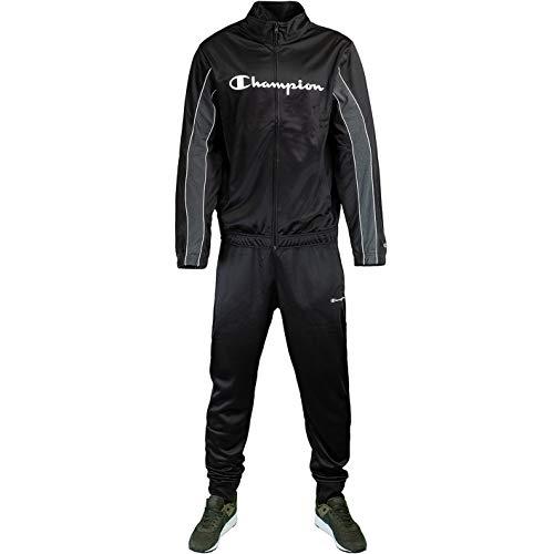 Champion Legacy Big Logo Tracksuit Trainingsanzug (XL, Black)