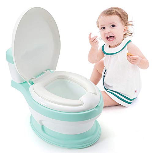 A WARM HOME Bébé Pot , Enfants Siège de Toilette de Formation, Baby Potty - Toilette Formation pour Garçons et Filles, 0-6 Ans Green