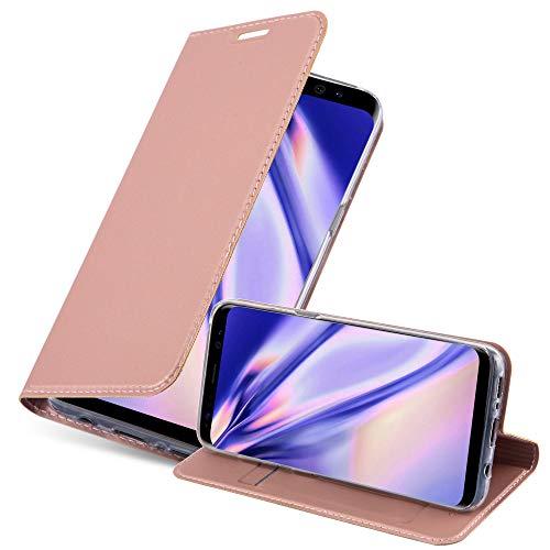 Cadorabo Funda Libro para Samsung Galaxy S8 en Classy Oro Rosa - Cubierta Proteccíon con Cierre Magnético, Tarjetero y Función de Suporte - Etui Case Cover Carcasa