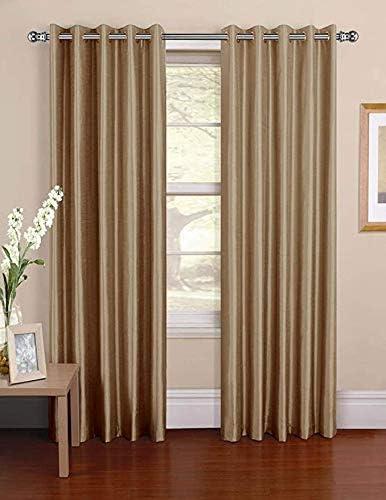 Fenstervorhangstange Silber 1Durchmesser Gardinenstange und Halterung f/ür Fenster 76 bis 112 cm Verstellbarer Gardinenstangenhalter mit runden Enden f/ür Schlafzimmer K/üche