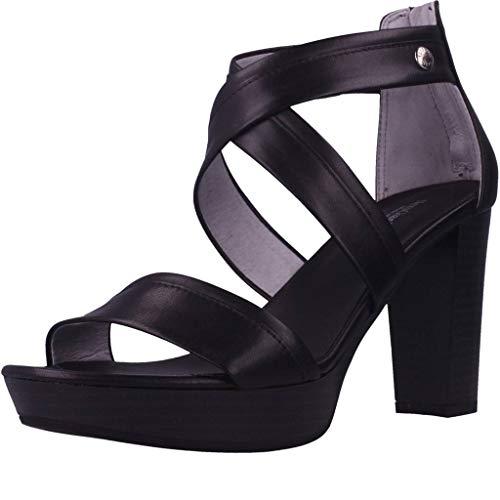 Sandalo da Donna NeroGiardini in Pelle Nero E012210D. Scarpa dal Design Raffinato. Collezione Primavera Estate 2020. EU 37