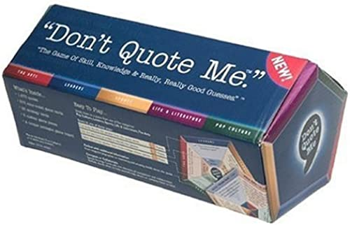 Don't Quote Me Board Game by Wiggles