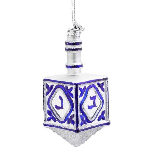 Kurt Adler 4-1/4-Inch Noble Gems Glass Jewish Dreidel Ornament