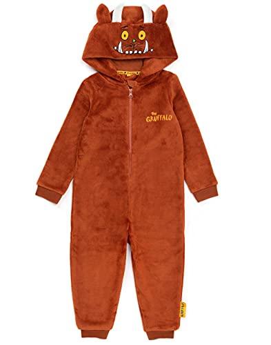 The Gruffalo Onesie Child Kids Book Fluffy All In One Pjs Pyjamas 3-4 Years Brown