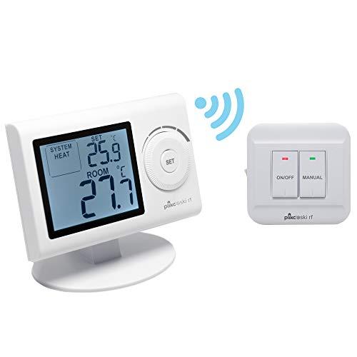 Termostato ambiente digitale Wireless da parete o da tavolo Mod. SKI-RF (Bianco)