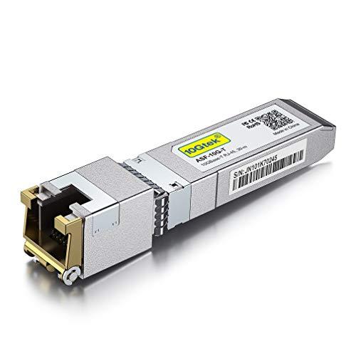 10G SFP+ auf RJ45 Modul - 10GBase-T Kupfer Transceiver Kompatibel für Cisco SFP-10G-T-S, Ubiquiti UF-RJ45-10G, Netgear, Mikrotik S+RJ10, TP-Link, D-Link