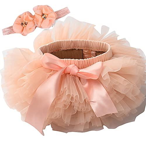 ZRFNFMA Chicas con Capas de Tul de Tul, Ropa para niños, Baile de Las Mujeres, Falda de Vacaciones, niño Pink-M