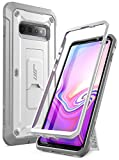 SUPCASE Unicorn Beetle Pro Series Full-Body Dual Layer Rugged with Holster & Kickstand Without Built-in Screen Protector (White) - Compatible with Samsung Galaxy S10 Plus (2019 Release)