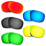 Hkuco Mens Replacement Lenses For Oakley Ten X Red/Blue/Black/24K Gold/Emerald Green Sunglasses