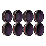 Freewell All Day – 4K Series – 8Pack ND4, ND8, ND16, CPL, ND8/PL, ND16/PL, ND32/PL, ND64/PL Camera Lens Filters Compatible with DJI Osmo Action Camera