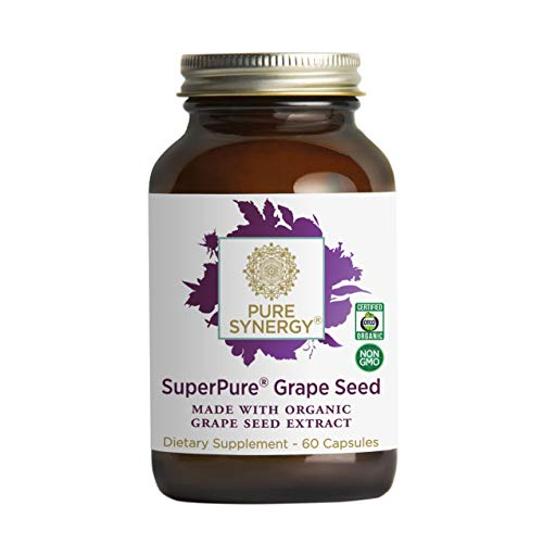 Pure Synergy SuperPure Grape Seed Extract (60 Capsules) w/Proanthocyanidins for Antioxidant Support