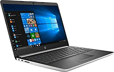 "2019 HP 14"" Laptop (Intel Pentium Gold 2.3GHz, Dual Cores, 4GB DDR4 RAM, 128GB SSD, Wi-Fi, Bluetooth, HDMI, Windows 10 Home) (Ash Silver) (14-CF0012DX)"