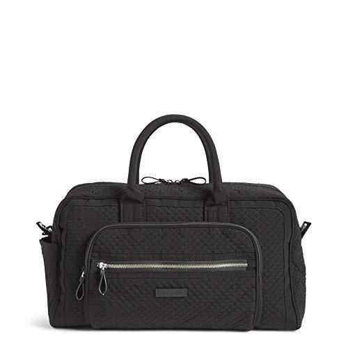 Vera Bradley Damen Mikrofaser-Reisetasche, kompakt, Schwarz (klassisches schwarz), Einheitsgröße
