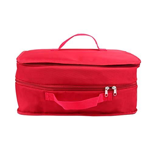Diseños compone el bolso, maletín profesional en los viajes de lavado Limpieza en seco grandes bolsas de cosméticos y los casos de regalos para las mujeres, bolso de belleza,Rojo