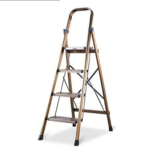Vier-staps Aluminium Ladder, Multifunctionele Engineering Ladder Waterdicht En Anticorrosieve Ladder Maximale Hoogte Van Handrail: 42cm 44.5 * 76 * 135cm
