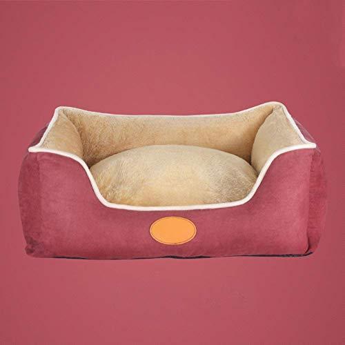 Busirsiz Waschbar Hundebett for mittelgroße Hunde, weicher gemütliche gleitsicheres Suede Pet Nest-B S