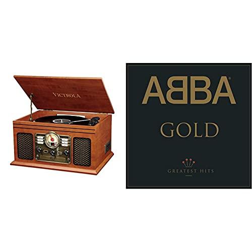 Victrola Classic Vynil Music Centre 6-In-1, Bluetooth, Lettore Cd E Cassette, Radio Fm - Mogano & Gold: Greatest Hits