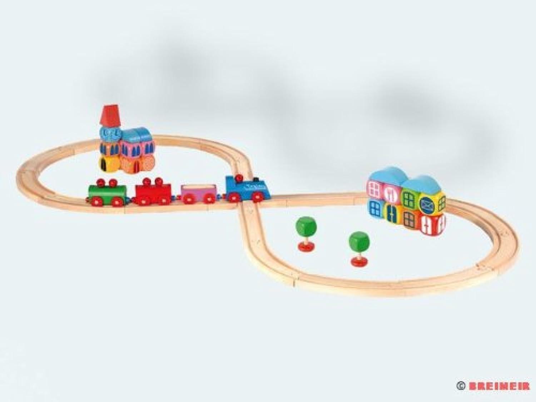 Set ferrovia ottovolante con città a dadi (48 pezzi)