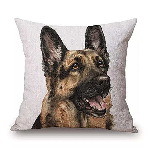 Funda Cojine sofá Decorar Funda Almohada Pintura a mano perros lindos...