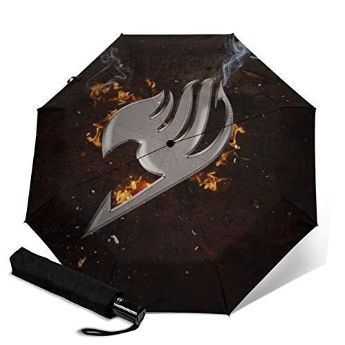 Fairy Tail Automatischer Dreifach Faltbarer Regenschirm Unisex Tragbar Bedruckt Sonnenschirme