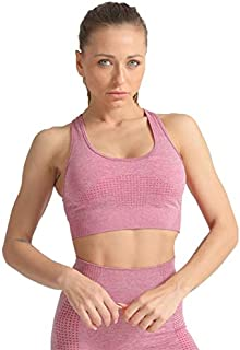 Sports Bra Seamless Top Yoga Running Gym Crop Top Push Up Bra Sportswear Fitness Full Cup Dolly Candy Colors for Women
