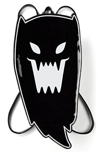 Killstar Damen Gothic Mini Rucksack Geist -Spooky Harajuku Backpack Lackleder