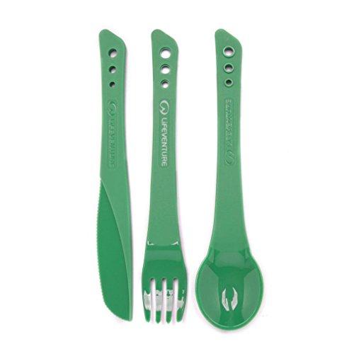 Lifeventure Unisex-Adult Ellipse Cutlery Set, Green, Grün, One Size