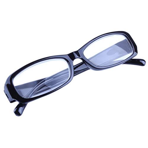 Inlefen Männer und Frauen Brille lesen Ultraleicht klassisch Vollbild lesen Brille Schwarz 450