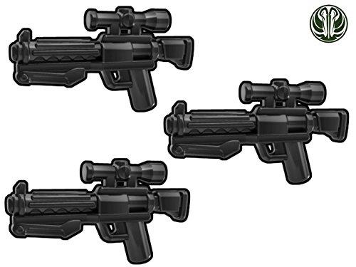 3X F11-D Blaster Karabiner - Custom Waffen für Lego Star Wars Figuren -schwarz-