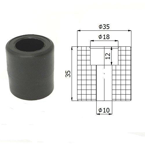 Zabi Führungsrolle - Nylon Kunststoff-Führungsrollen für Schiebetore Ø 35mm