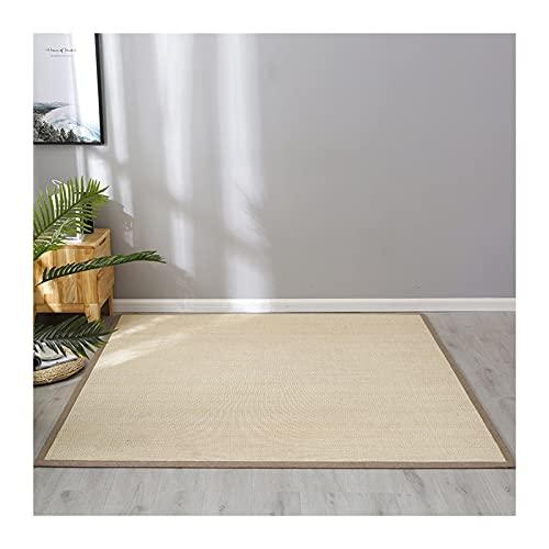 KKCF tappeto in fibra naturale di bambù, morbido tappetino antiscivolo resistente all'usura, spessore 2 cm, adatto per la camera da letto, personalizzato (colore : 2 cm, dimensioni: 60 (L) x 180 cm)