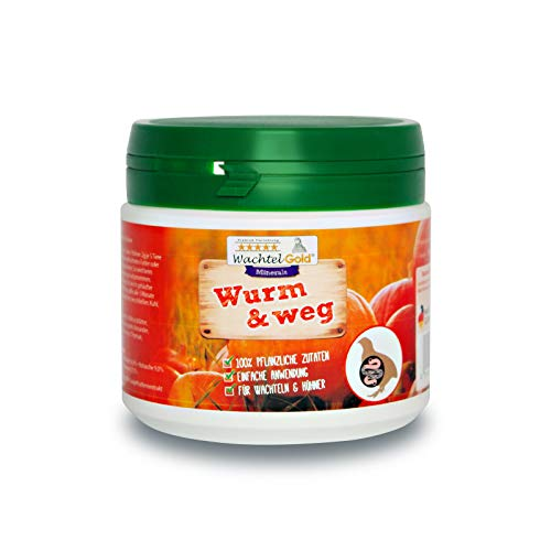 Wurm&Weg 150g - Unterstützung gegen Wurmbefall - Wurmkur für Wachteln & Hühner