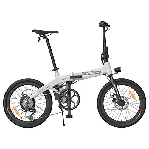 HIMO Z20 Folding Electric Bike for Adults, Mens Mountain Bike, 20' Electric Bicycle/Commute E-bike with 250W Motor, 36V 10Ah Battery, Shock Absorber, Professional 6-speed transmission Gears (White)