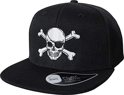 Kinder Cap: Pirat - Mütze für Kinder - Piraten Totenkopf Flagge Pirats Piratin Karibik - Geschenk für Junge-n & Mädchen - Kappe Baseball-Cap Basecap - Kinder-Geburtstag Sonnenschutz (One Size)