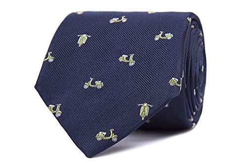 Nosologemelos - Corbata Vespas - Azul Verde - Hombres - Talla Unica
