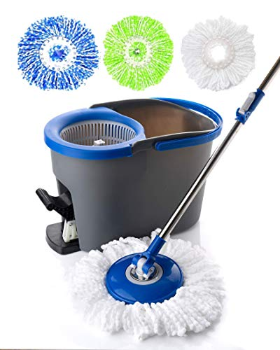 Simpli-Magic 79154 Floor Cleaning System, Spin Mop Kit, Blue/Gray