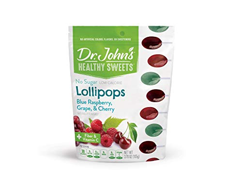Dr. John's Healthy Sweets Sugar-Free Classic Fruit Oval Lollipops (14 count, 3.7 OZ)