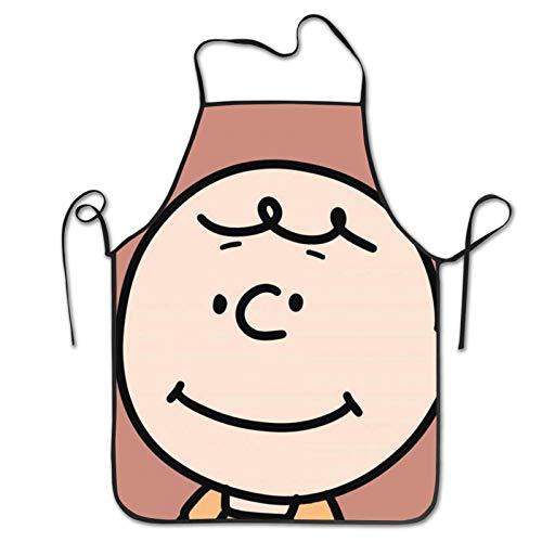 GERERIC Charlie Brown De S-Noopy Delantales De Restaurante Ajustable Delantales De Jardinería Creativa Delantales De Barbacoa Unisex Delantal De Pintura para Mujeres Hombres,Regalo,52X72Cm