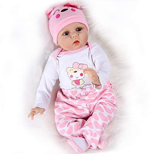 """ZIYIUI Reborn Doll 22 """"55 cm Hechos a Mano Hechos a Mano bebé recién Nacido muñeca renace muñeca Suave Silicona Vinilo muñeca, Hermoso Regalo de los niños"""