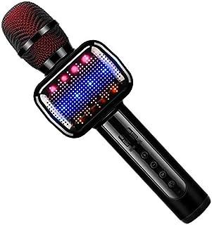 Micrófono Inalámbrico, Portátil Micrófono Karaoke Bluetooth con Altavoz, Compatible con iPad, Smartphone, PC, Batería Larg...