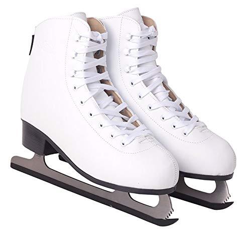 Schlittschuhe Eiskunstlauf # Kunstlauf Eiskunstlaufschuhe gefüttert Klassisch EIS Sport Eislaufen Damen & Herren NF8565 (Weiß, 40)