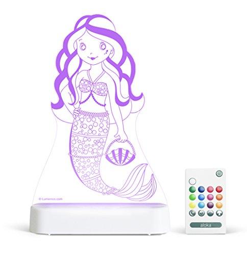 Preisvergleich Produktbild Aloka Nachtlicht Meerjungfrau mit Fernbedienung