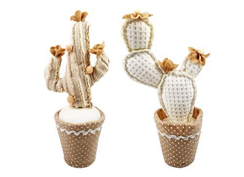 2 pz Cactus in Stoffa Modelli Assortiti A20412M bomboniera