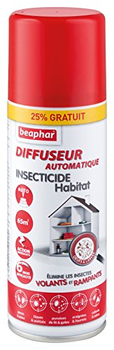 BEAPHAR - Diffuseur automatique insecticide habitat – Tue les insectes volants, rampants, les œufs et larves – Permet de traiter 70 m² - Action longue durée jusqu'à 6 mois - Flacon 200 ml