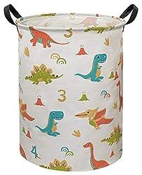 2. CLOCOR Large Sized Dinosaur Laundry Storage Basket