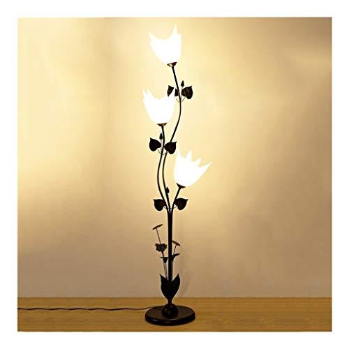 Lámparas de Pie Lámpara de Piso Luz de Pie Lámpara de pie LED Lámpara de pie moderna creativa de tipo vertical Lámpara de acrílico de 3 cabezas Lámpara de pie de sombra Dormitorio Sala de estar Estudi