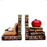 Sujetalibros Bookends Anticistida Retro Bookend Bookend Bookshelf Resistones de resbalos antideslizantes resistentes, usados en la sala de estar de la oficina y decoración del comedor Tapones de lib